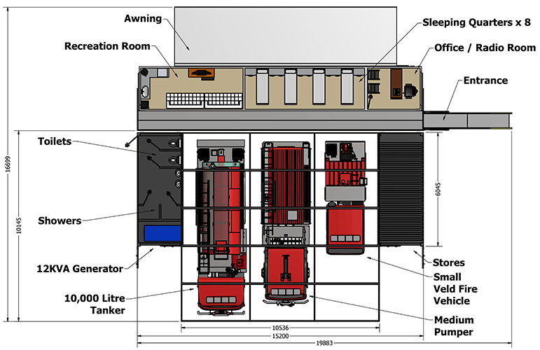 Mobile-Fire-Station-Layout